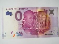 Billet touristique Mozathaus Salzburg 2017 N° 000247
