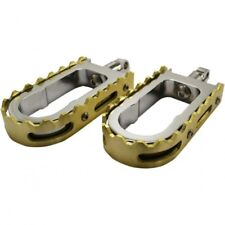 Footpegs bmx style chrome/ brass - La choppers LA-7205-02