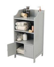 Lloyd Pascal Bathroom Cabinet Storage Unit 2 door 3 Shelf Grey