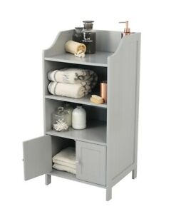 Bathroom Storage Unit 2 door 3 Shelf - Grey