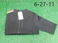 Ralph Lauren Golf Womens Silk Full Zip Polo Black Golf Sweater S Small New NWT