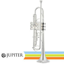 """Jupiter JTR700SA Silver Plated Key of Bb .460"""" Bore Student Trumpet with Case"""