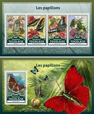 Butterflies Insects Flowers Fauna Togo MNH stamp set
