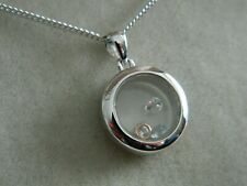 Clogau Silver & 9ct Rose Gold Inner Charm Circle Pendant RRP £149.00