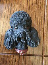 "Bossons Chalkware Poodle Dog Head Wall Hanger Figurine England 5x4x3"" Vintage"