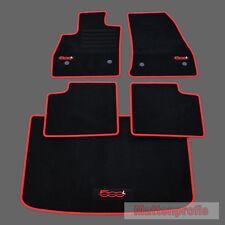 MP Velours Logo Fußmatten + Kofferraummatte für Fiat 500L ab Bj. 09/2012 rot