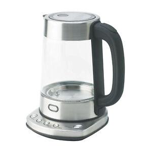 Nesco GWK-03D 1.8 Quart BPA Free LED Digital Electric Glass Water Kettle Teapot