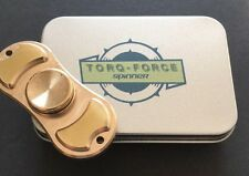 New TORQFORCE Solid Brass Hand Fidget Spinner Torqbar  EDC W/ Metal Case
