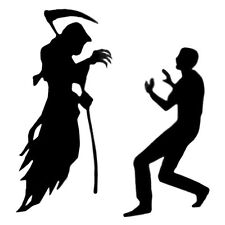 Halloween Horror Decoration Scene Setter Add On Fear The Grim Reaper Silhouette