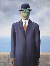 The Son of Man Rene Magritte Art Print Poster BOWLER HAT (Fils de l'Homme) 20x26