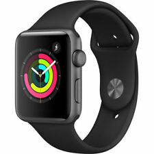 Apple Watch Gen 3 Series 3 38mm Space Gray Aluminum Black Sport Band
