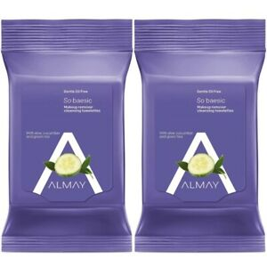 Almay Gentle Oil Free Makeup Remover Cleansing Towelettes 25 Count (Pack Of 2)