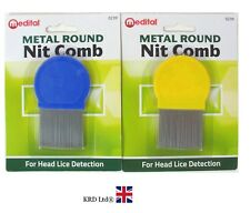 METAL ROUND NIT COMB Hair Fine Tooth Toothed Remove Gritty Nitty Head Lice Eggs