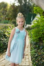New ISABELLE AND CHLOE FAIRY GARDEN TURQUOISE TULLE DRESS 8 CHASING FIREFLIES