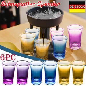 Glasspender und 6 Schnapsglas Liquor Dispenser Cocktail Spender Partyspiele DE