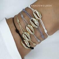 Colour Cowrie Shell Beach Friendship Bracelet Sea Boho Summer Seashell Jewellery