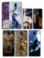 For LG STYLO 5,5+,5x Peacock Horse Wolf Eagle Tiger Deer Slim Cover Phone Case