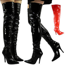 Ladies Thigh High Boots Womens Over Knee Heel Fetish Going Out Stiletto Shoes Si