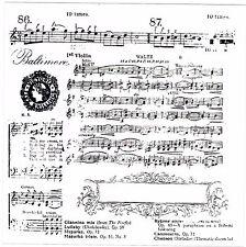 Estilo Victoriano de Baltimore Vals música Hoja Grande Claro se aferran sello