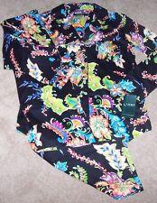 NWT Ralph Lauren Black PAISLEY Luxe Cotton Sateen Pajama Shirt/Pants Set M NICE!