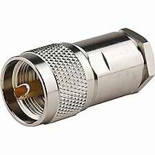 2pc UHF Male RF Connector for 400 RG8 RG213 Coaxial Cable High Quality Ships F