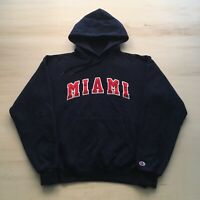 Vintage 90s Champion Hoodie Mens Medium Miami University College Spell Out
