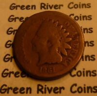 1861  CN   Indian Head Penny Cent  Coin  #L61-1