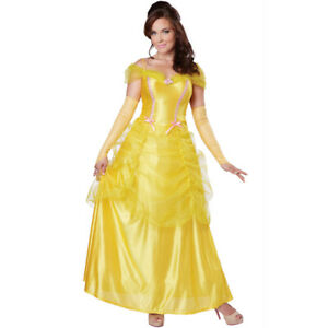 Classic Beauty Womens Costume Adult Belle And The Beast Disney Princess