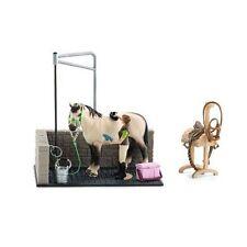 Schleich Azul Pony Manta /& Cabezada Conjunto De Tela Juguete Animal Accesorio Nuevo
