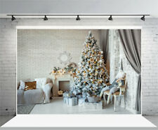 7x5ft Background Christmas Tree Decor Interior Backdrop Photography Prop Studio
