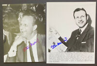 1951 Stan Musial Signed Wire Photos Lot of 2 St Louis Cardinals HOF AS WS MLB