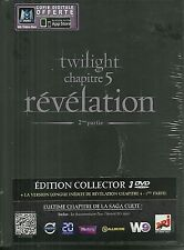 COFFRET 3 DVD - TWILIGHT REVELATION avec ROBERT PATTINSON, KRISTEN STEWART /NEUF