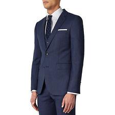 John Lewis Super Wool Birdseye Tailored Blazer Jacket Cornflowe Blue Size 38R