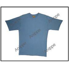 100% Egyptian Plain Cotton T Shirt Undershirt T-Shirt half Sleeve  Blue  Large
