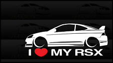 I Heart My RSX Sticker Love Slammed Low JDM Acura Honda K20 Type S With Spoiler