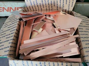 10 lbs. Copper Clad Laminate  SINGLE & DOUBLE SIDED TRIMMINGS. FREE SHIPPING.