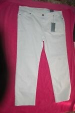 M&s per Una White Roma Jeans Straight Leg Sits on Waist Size UK 24 Medium