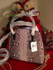 NWT Coach Minetta Crossbody Shoulder Bag Grey Python Embossed Leather 35876 $395
