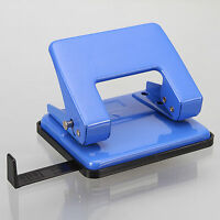 10*9cm steel 2 hole paper punch punches Scrapbooking With side gauge Blue Color