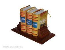 set 3 miniature books Jose Marti Obras Escogidas, Ideario, Edad de Oro w/stand