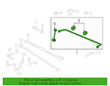 2010 2011 2012 FORD MUSTANG GT REAR SWAY BAR ASSEMBLY BR3Z-5A772-B TAKE OFF 24mm