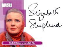 Avengers Series 1 Auto Autograph Card A3 Elizabeth Shepherd as Emma Peel