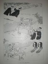 Una pista para automovilistas Rene Bull 1902 dibujos animados Eduardo VII FALSO Barba tonto de policía