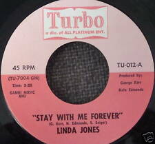 LINDA JONES 45 Stay With Me Forever TURBO MINT