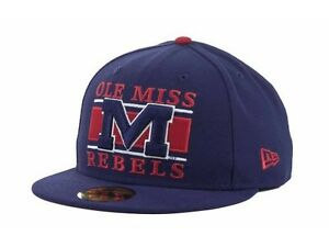 Mississippi Rebels Ole Miss New Era 59FIFTY Frosh NCAA Cap Hat Various Sizes