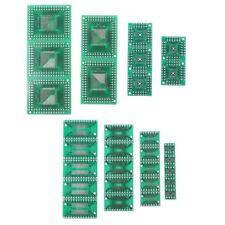 30Pcs SMD To DIP PCB Board Kit Adapter Converter FQFP32-100 QFN48 SOP8 16 24 28