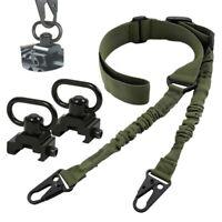 Tactical Rifle Gun Sling 2 Point Shoulder Strap QD Sling Swivels Adapter Mounts
