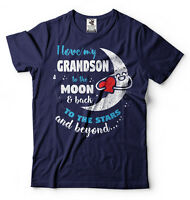 I Love My Grandson To The Moon And Back Gift For Grandpa or Grandma T-shirt