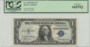 1935A $1 Silver Cert FR#1608 PCGS 66 Gem New PPQ