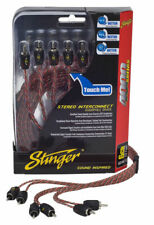 Stinger SI4617 6 Channel 5 Metre 17ft 4000 Series Interconnect RCA Cable Lead